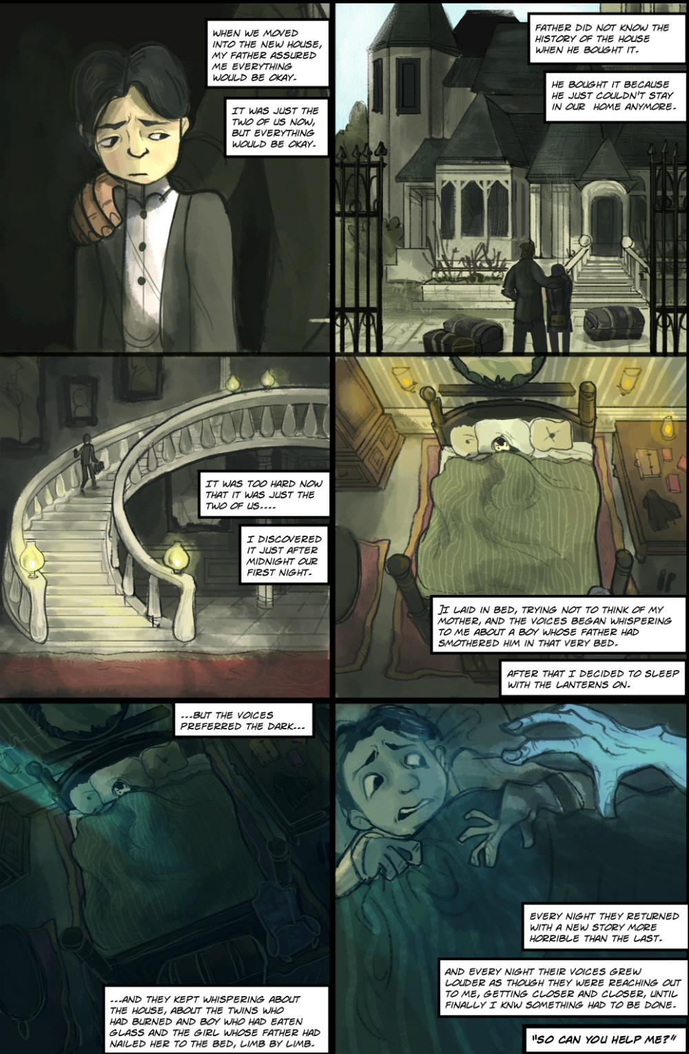 Gothic Ghost Story page 1