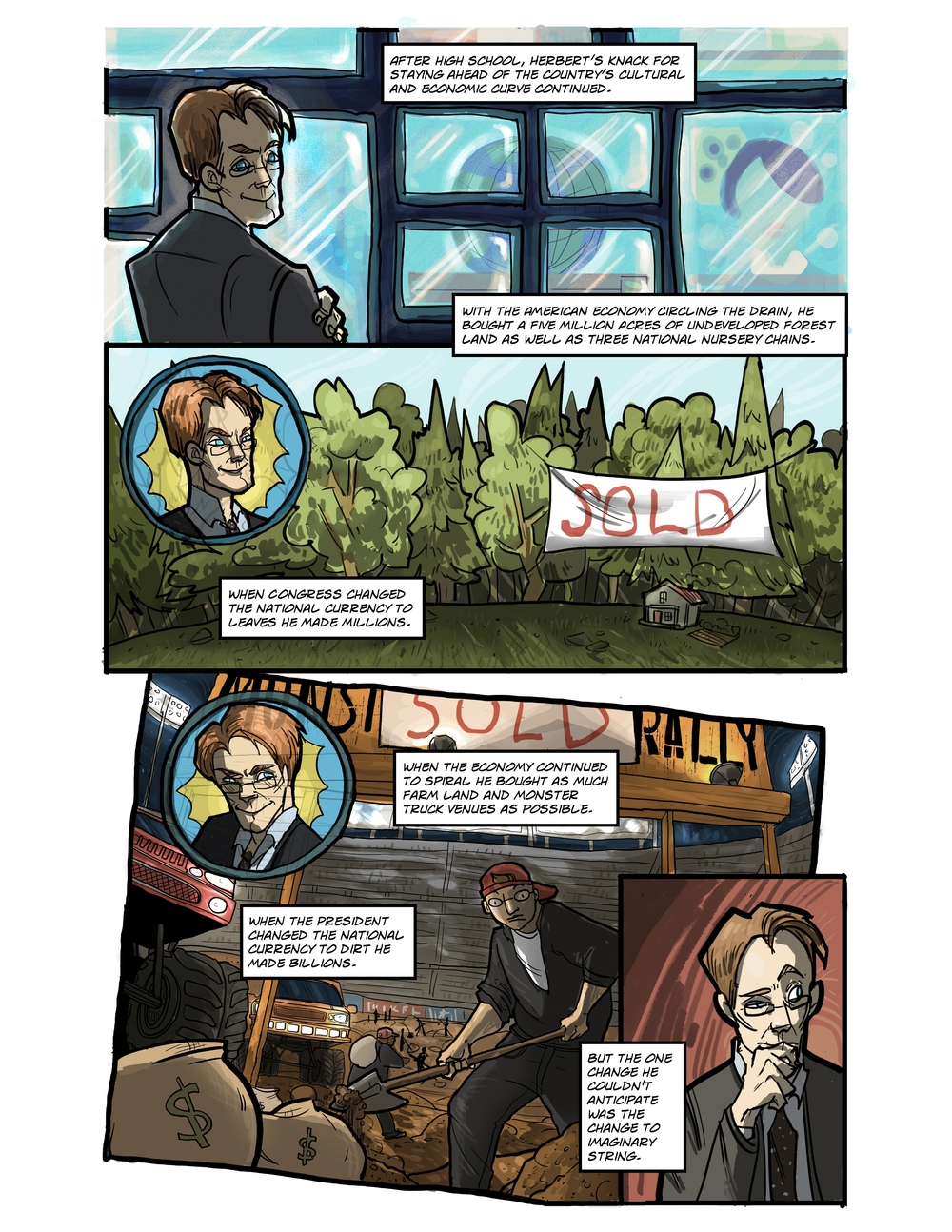 IMAGINARY STRING page 6 - story 20 in The Book of Lies