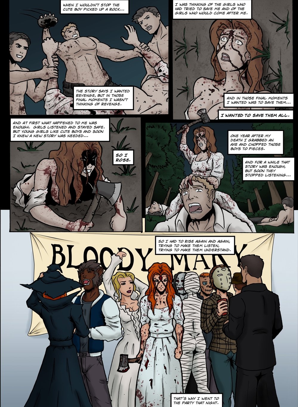 BLOODY MARY page 5 -- story 25 in The Book of Lies