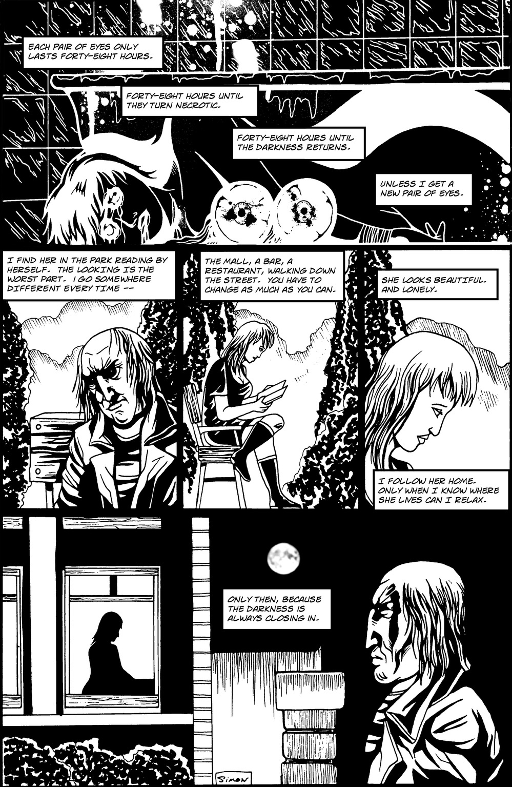 EYES page 4 - story 2 in The Book of Lies