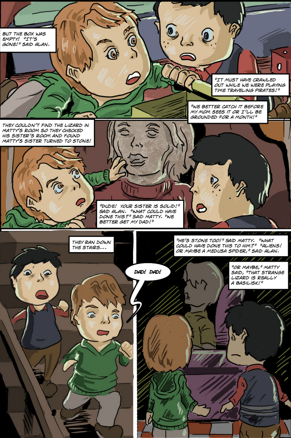 BASILISK IN THE HOUSE page 6 - story 18 in The Book of Lies