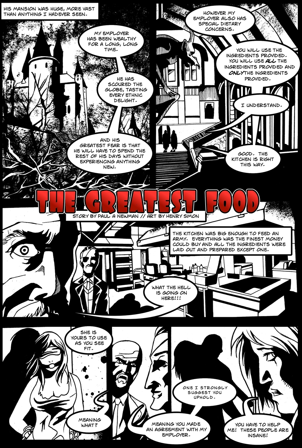 THE GREATEST FOOD page2 -- in The Book of Lies