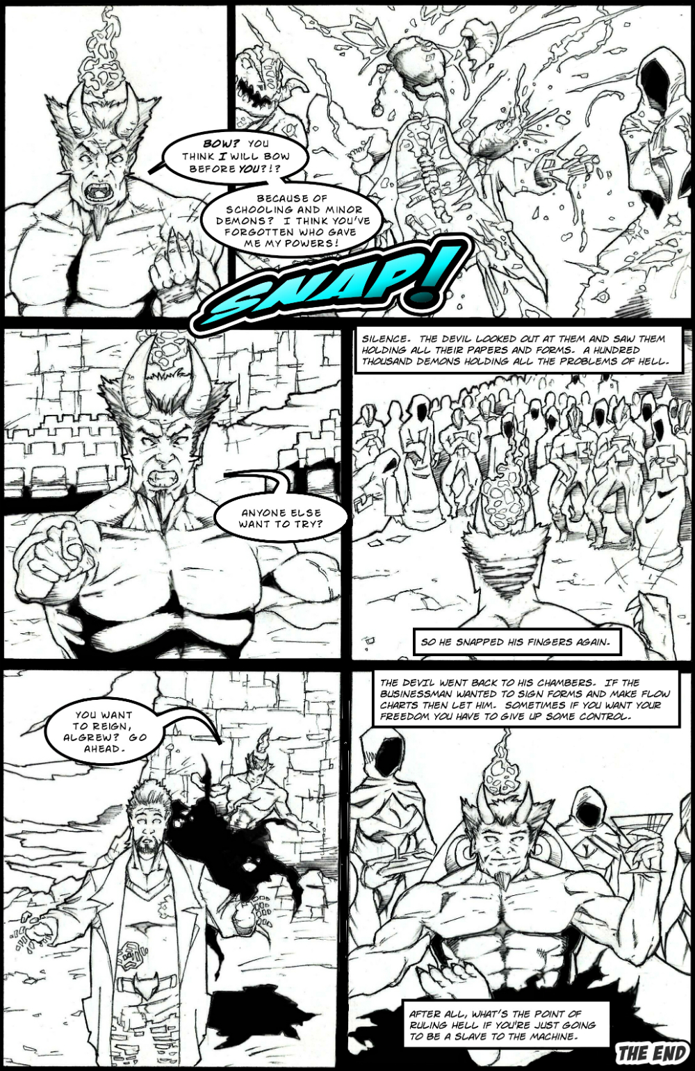 BUSINESSMAN IN HELL page 6 - story 4 in The Book of Lies