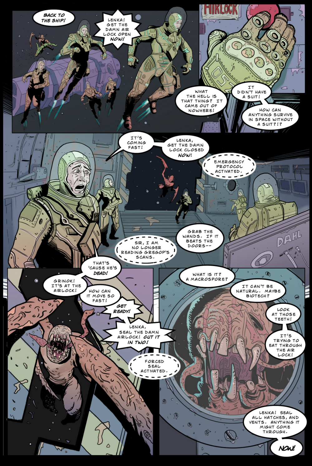 IN SPACE page 2 -- story 24 in THE BOOK OF LIES