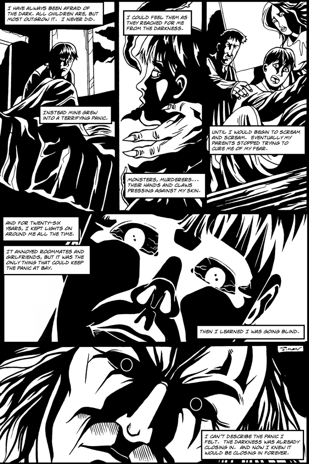EYES page 2 - story 2 in The Book of Lies