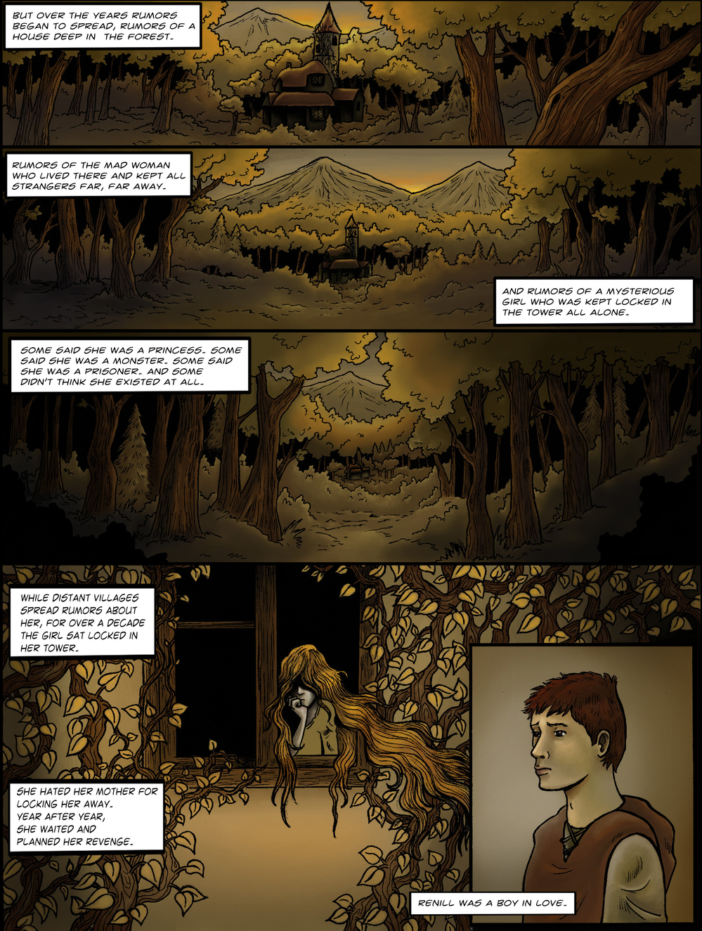 THE TOWER page 3 - story 1 in The Book of Lies