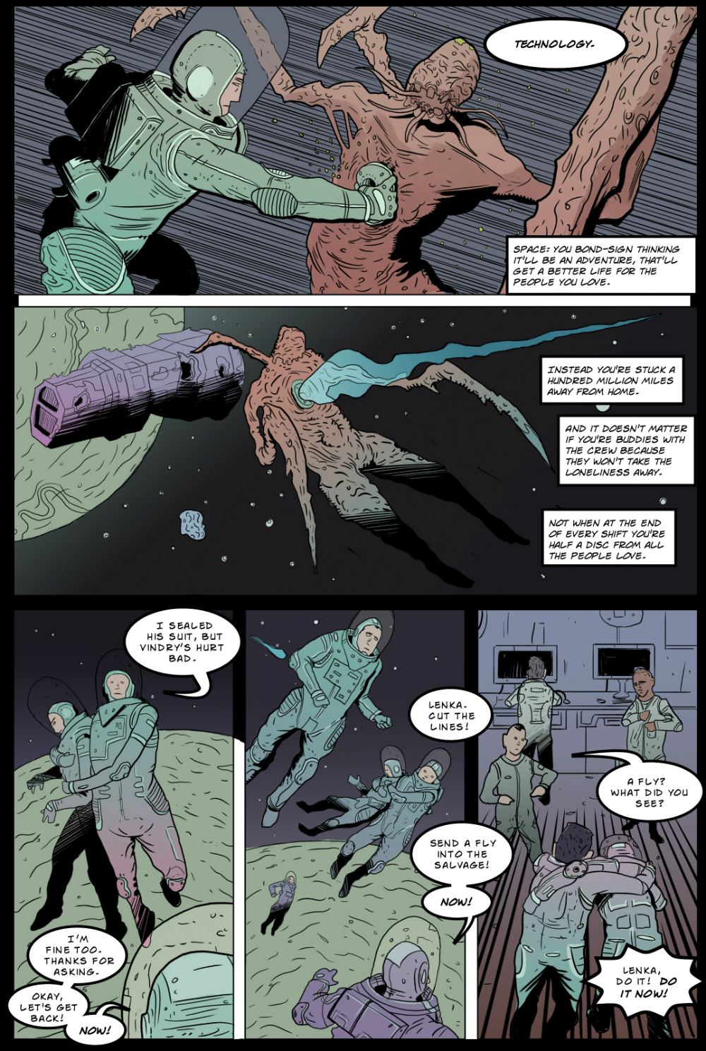 IN SPACE page 8 -- story 24 in THE BOOK OF LIES