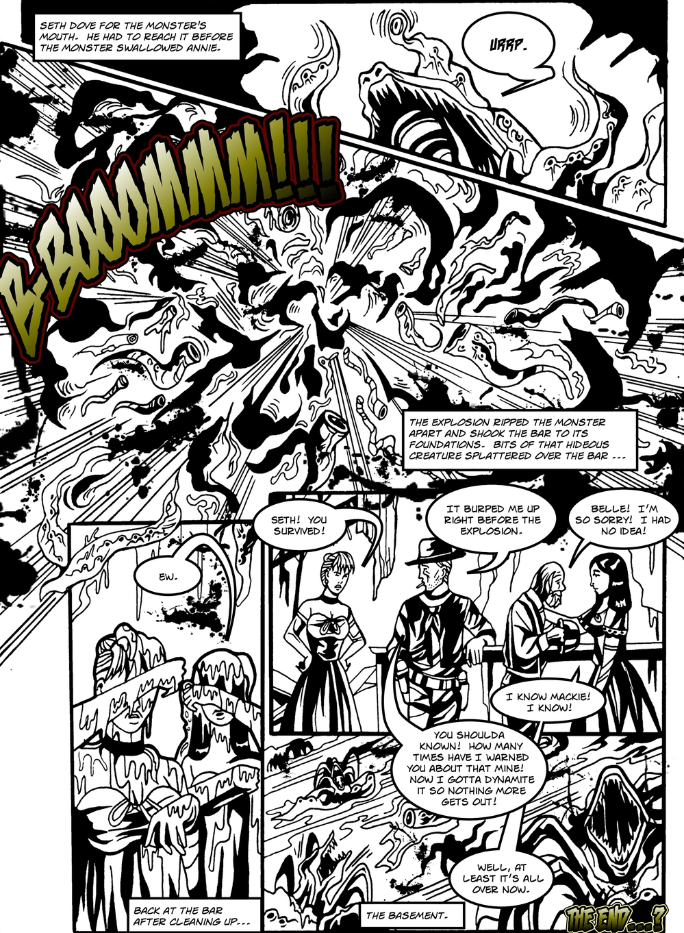 MANY TENTACLED BEAST page 6 -- in The Book of Lies