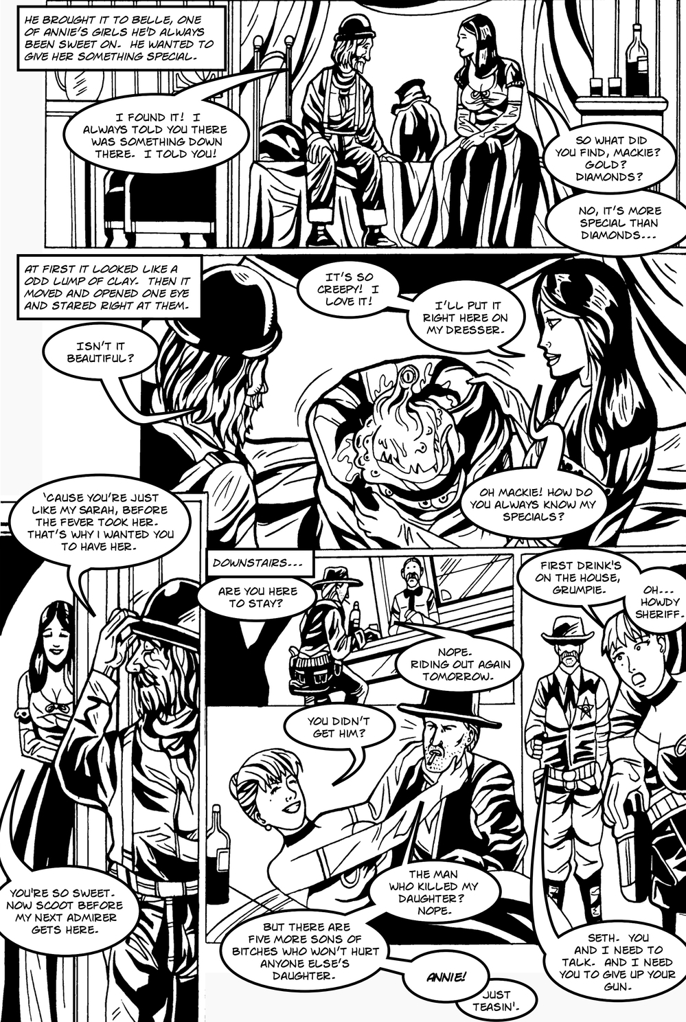 MANY TENTACLED BEAST page 2 -- in The Book of Lies