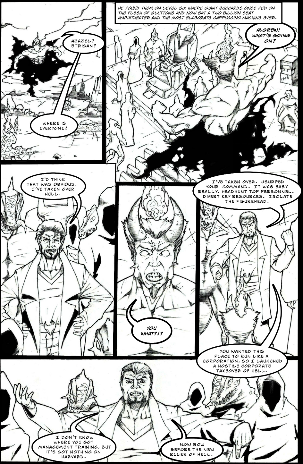 BUSINESSMAN IN HELL page 5 - story 4 in The Book of Lies