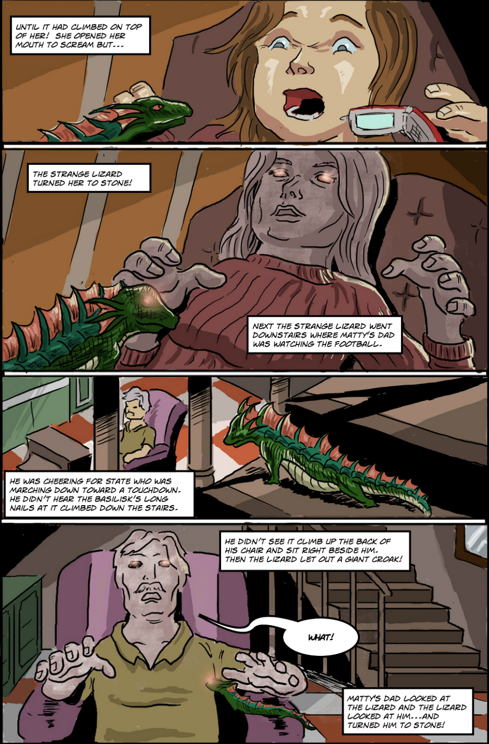 BASILISK IN THE HOUSE page 4 - story 18 in The Book of Lies