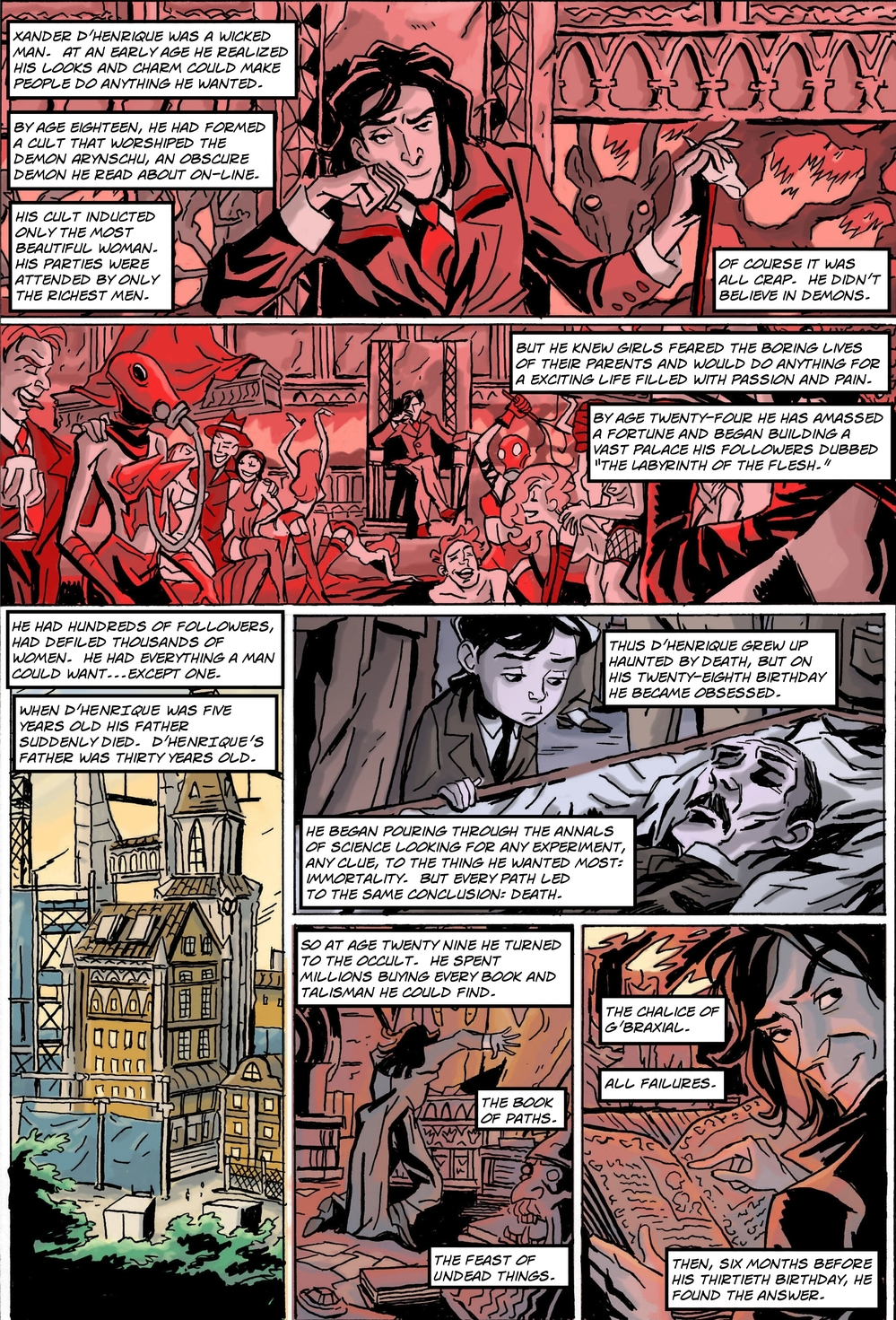 MOST EVIL PAINTING IN THE WORLD page 1 - story 17 in The Book of Lies