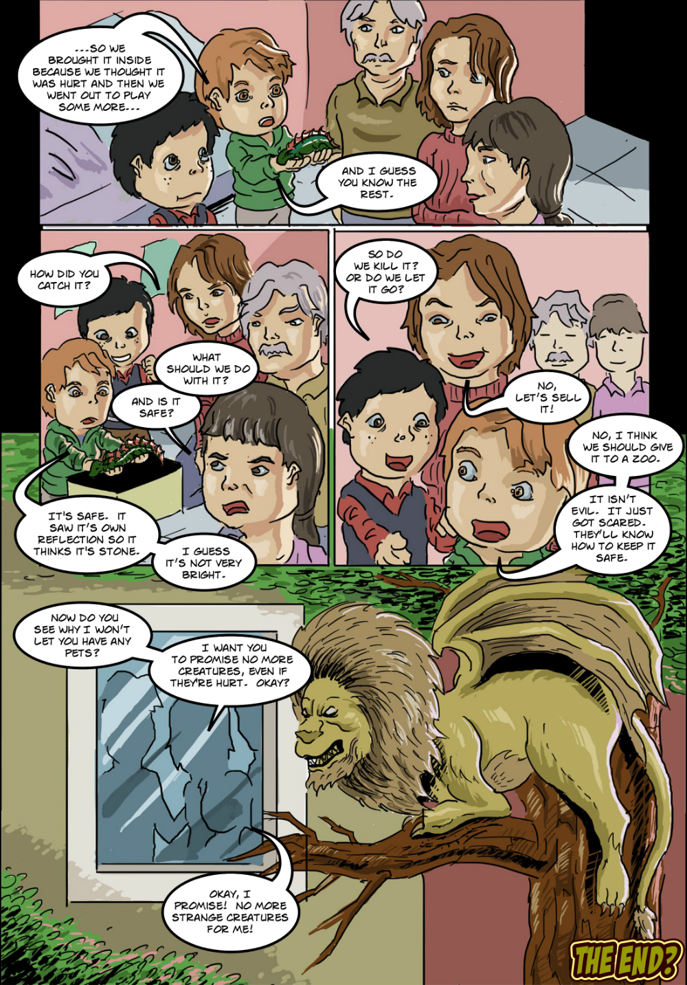 BASILISK IN THE HOUSE page 12 - story 18 in The Book of Lies