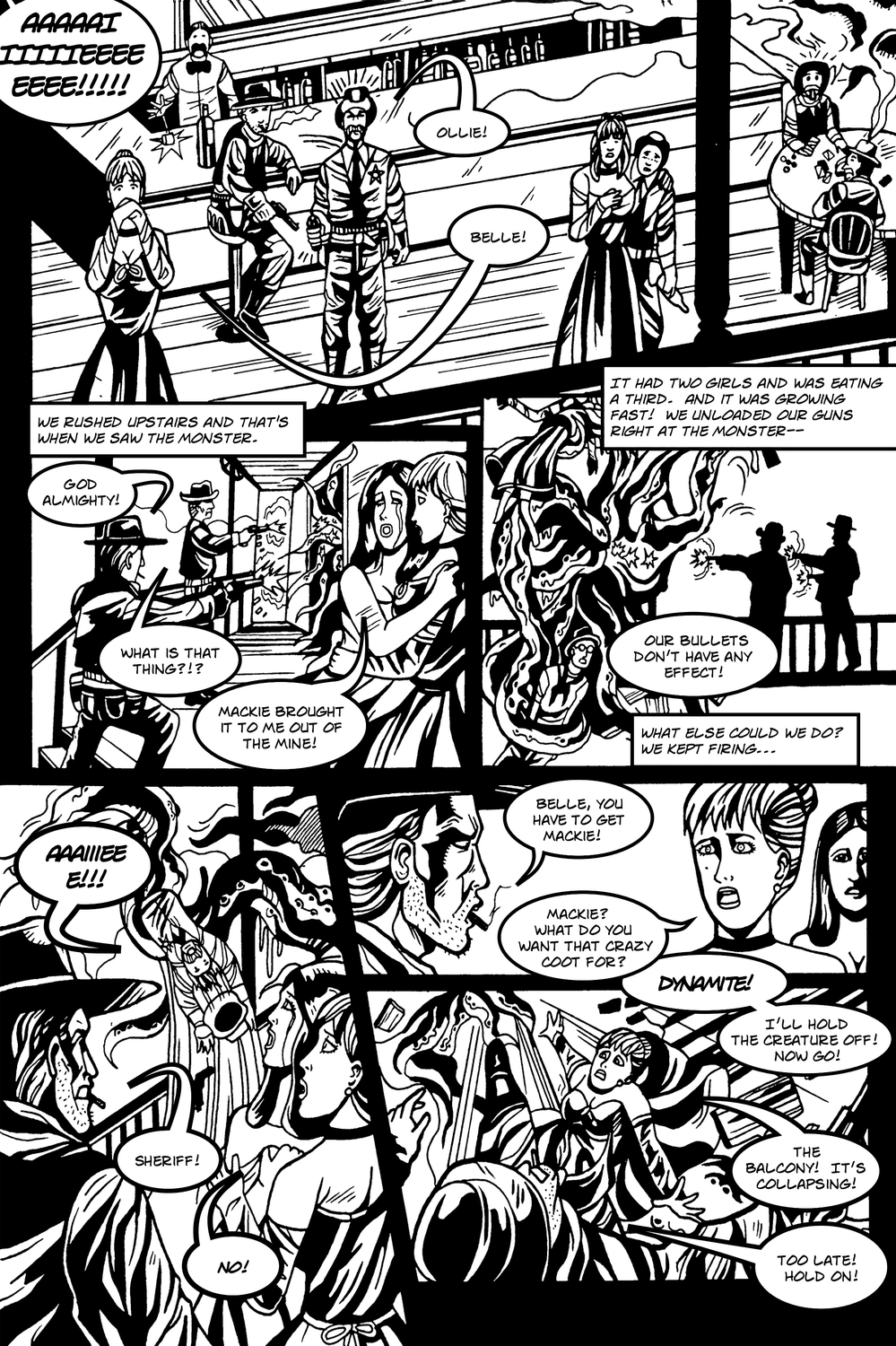 MANY TENTACLED BEAST page 4 -- in The Book of Lies