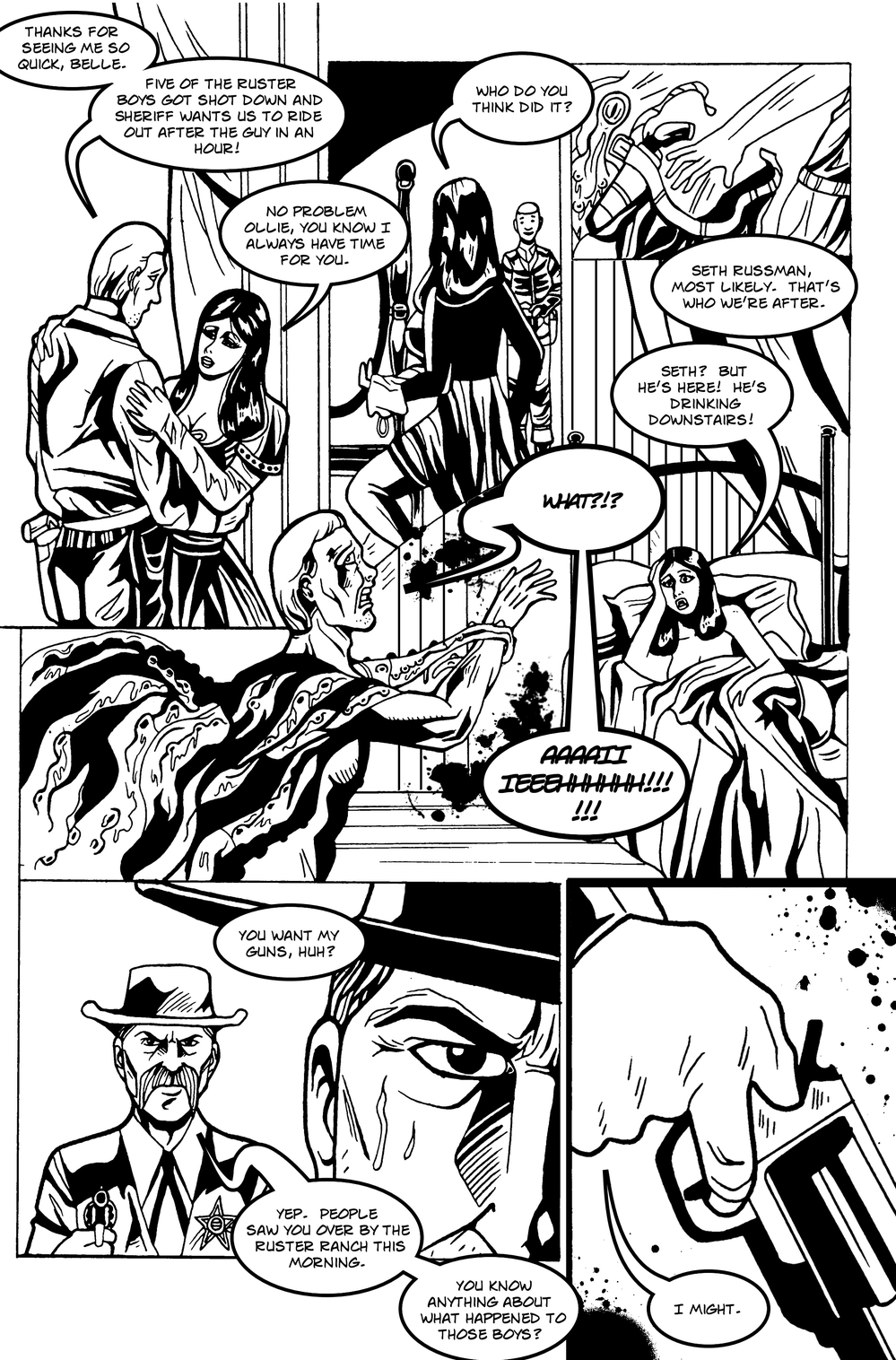 MANY TENTACLED BEAST page 3 -- in The Book of Lies