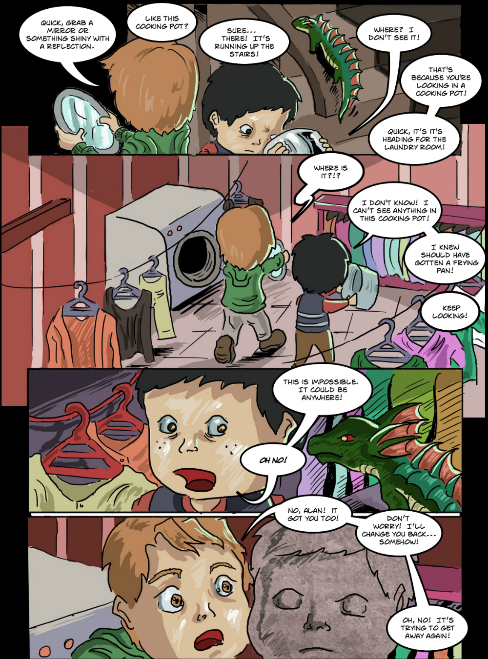 BASILISK IN THE HOUSE page 9 - story 18 in The Book of Lies