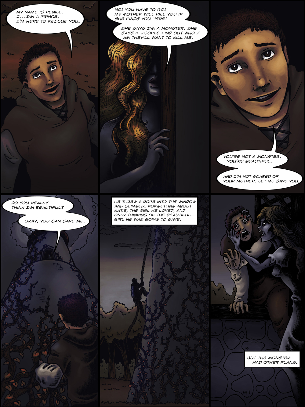 THE TOWER page 5 - story 1 in The Book of Lies