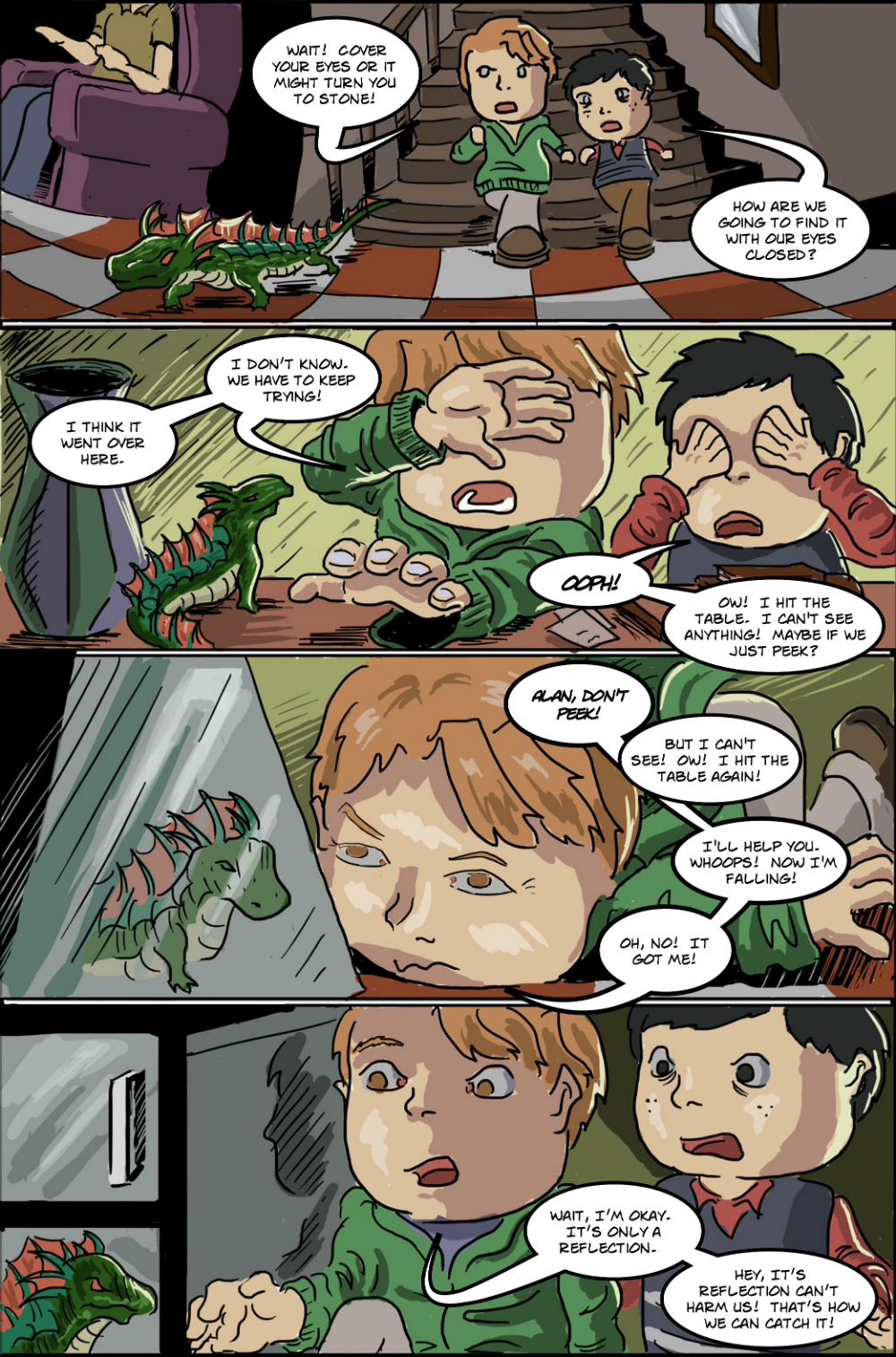 BASILISK IN THE HOUSE page 8 - story 18 in The Book of Lies