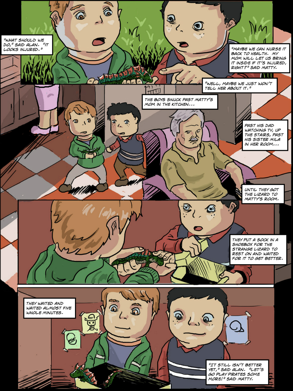 BASILISK IN THE HOUSE page 2 - story 18 in The Book of Lies