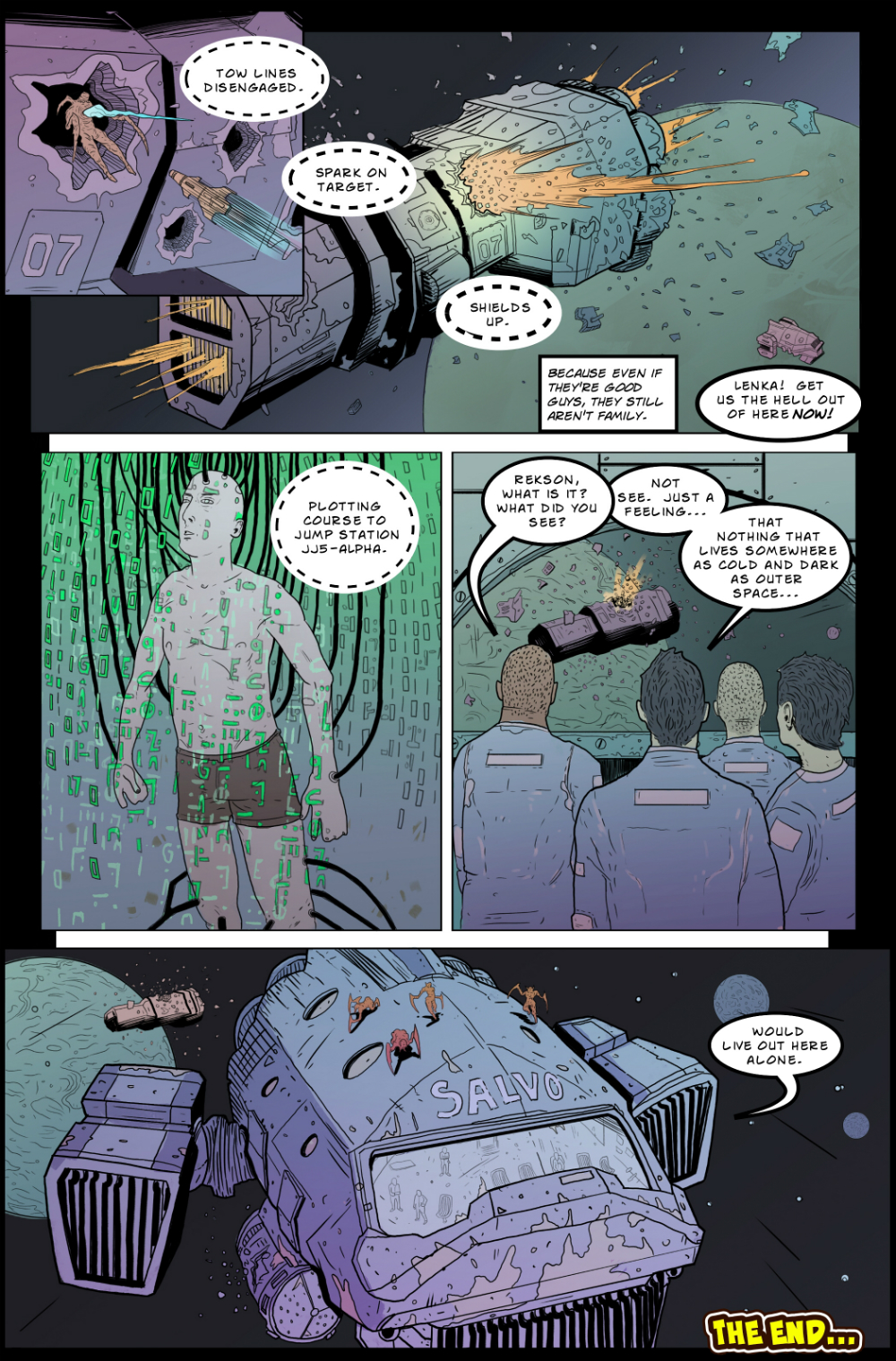 IN SPACE page 9 -- story 24 in THE BOOK OF LIES