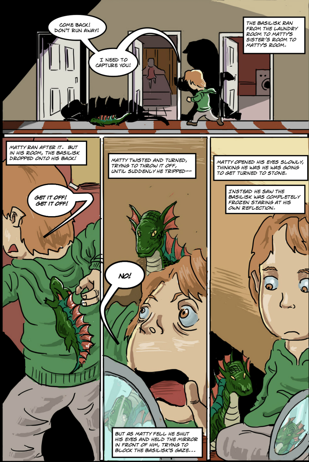 BASILISK IN THE HOUSE page 10 - story 18 in The Book of Lies