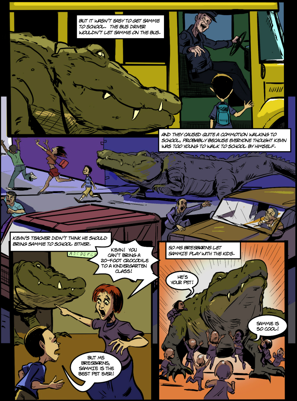 PET CROC page 3 - in The Book of Lies